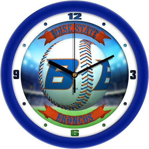 Boise State Broncos - Home Run Wall Clock - SuntimeDirect