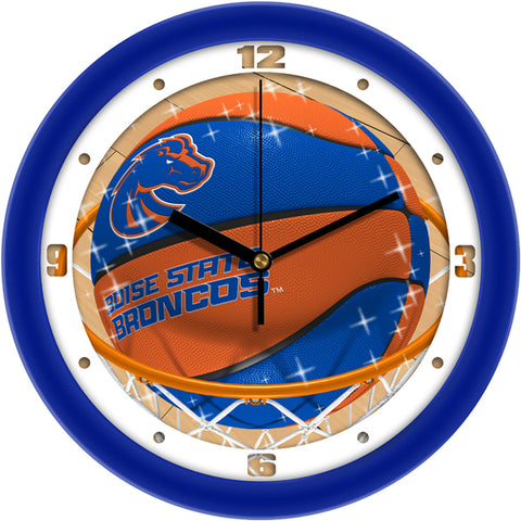 Boise State Broncos - Slam Dunk Wall Clock - SuntimeDirect