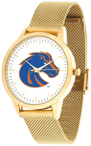 Boise State Broncos - Mesh Statement Watch - Gold Band