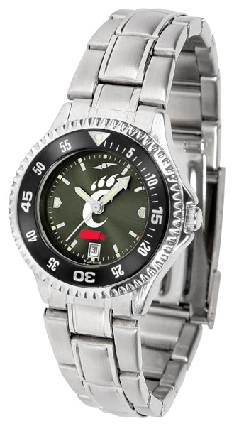 Cincinnati Bearcats - Competitor Ladies' Steel AnoChrome  -  Color Bezel - SuntimeDirect