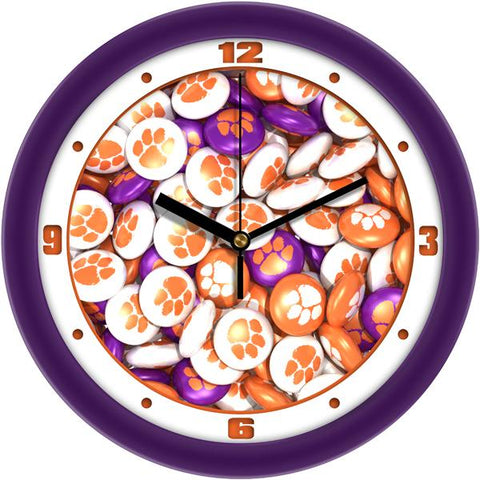 Clemson Tigers - Candy Wall Clock - SuntimeDirect