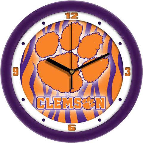 Clemson Tigers - Dimension Wall Clock - SuntimeDirect