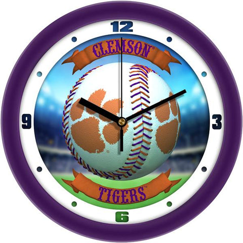 Clemson Tigers - Home Run Wall Clock - SuntimeDirect