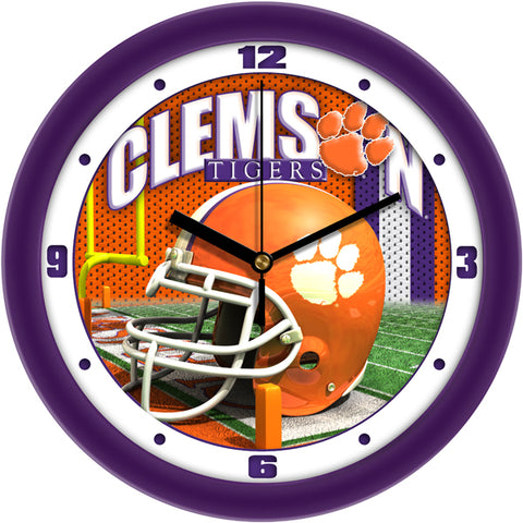 Clemson Tigers - Football Helmet Wall Clock - SuntimeDirect