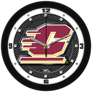 Central Michigan Chippewas - Carbon Fiber Textured Wall Clock - SuntimeDirect