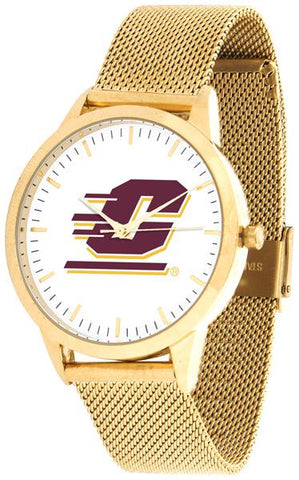 Central Michigan Chippewas - Mesh Statement Watch - Gold Band