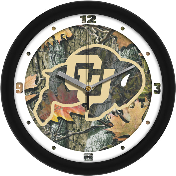 Colorado Buffaloes - Camo Wall Clock - SuntimeDirect