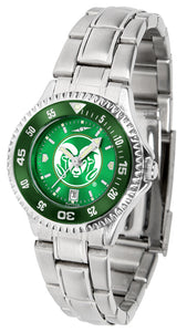 Colorado State Rams - Competitor Ladies' Steel AnoChrome  -  Color Bezel - SuntimeDirect