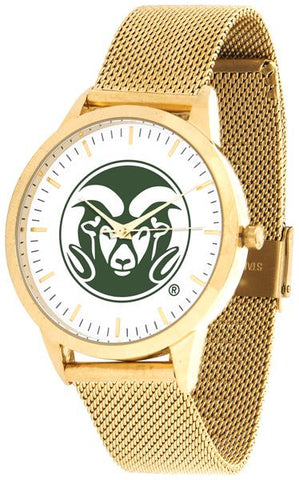 Colorado State Rams - Mesh Statement Watch - Gold Band