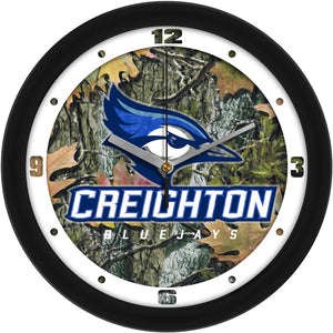 Creighton University Bluejays - Camo Wall Clock - SuntimeDirect
