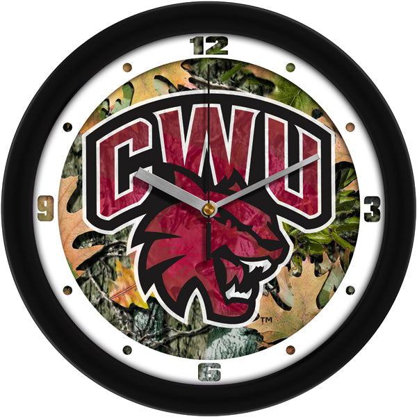 Central Washington Wildcats - Camo Wall Clock