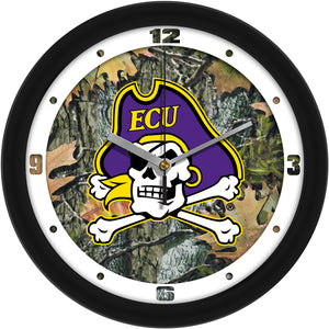 East Carolina Pirates - Camo Wall Clock