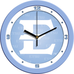 East Tennessee State Buccaneers - Baby Blue Wall Clock - SuntimeDirect
