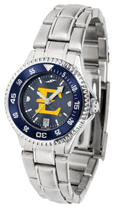 East Tennessee State Buccaneers - Competitor Ladies' Steel AnoChrome  -  Color Bezel - SuntimeDirect