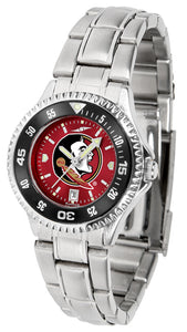 Florida State Seminoles - Competitor Ladies' Steel AnoChrome  -  Color Bezel - SuntimeDirect