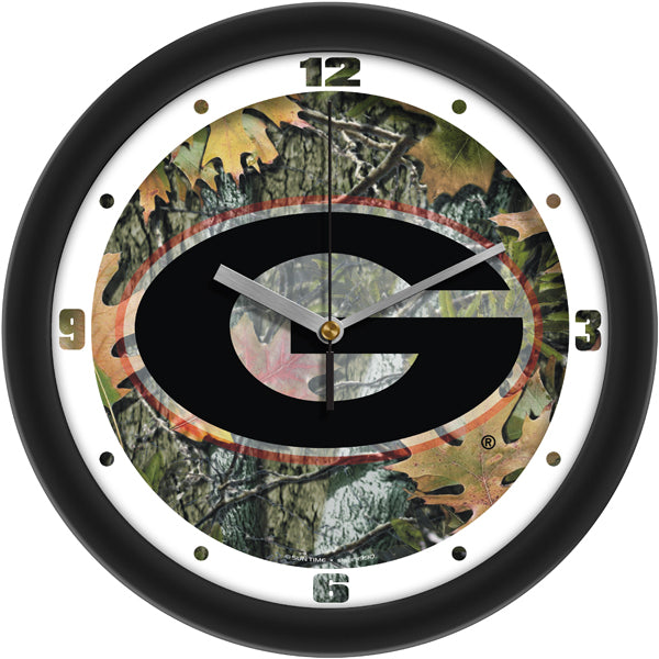 Georgia Bulldogs - Camo Wall Clock