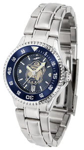 Georgetown Hoyas - Competitor Ladies' Steel AnoChrome  -  Color Bezel - SuntimeDirect