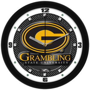 Grambling State University Tigers - Carbon Fiber Textured Wall Clock - SuntimeDirect