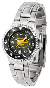 Grambling State University Tigers - Competitor Ladies' Steel AnoChrome  -  Color Bezel - SuntimeDirect