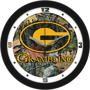 Grambling State University Tigers - Camo Wall Clock