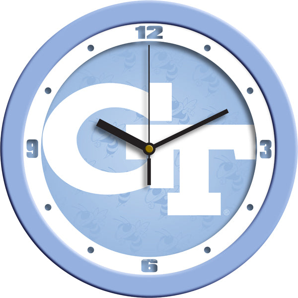 Georgia Tech Yellow Jackets - Baby Blue Wall Clock