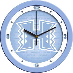 Hawaii Warriors - Baby Blue Wall Clock - SuntimeDirect