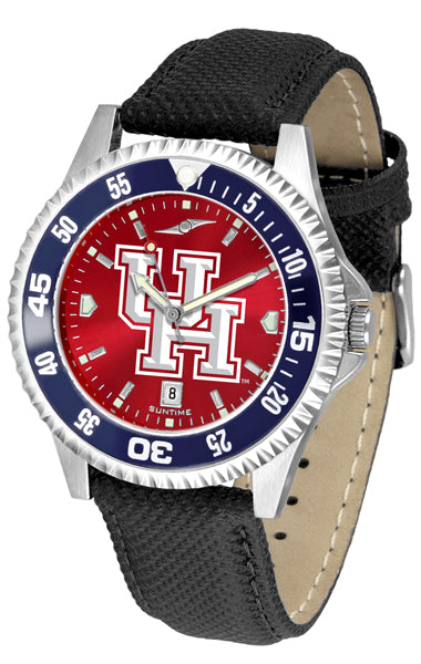 Houston Cougars - Competitor AnoChrome  -  Color Bezel - SuntimeDirect