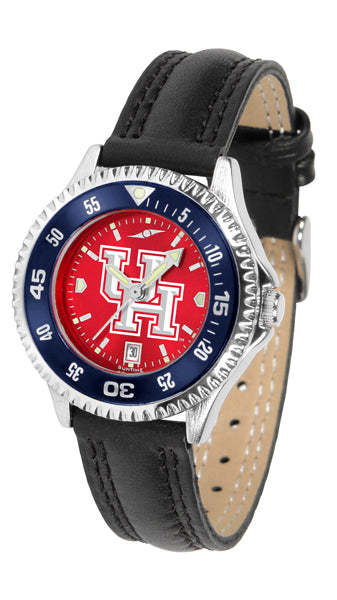 Houston Cougars - Competitor Ladies' AnoChrome  -  Color Bezel - SuntimeDirect