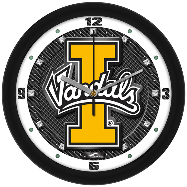 Idaho Vandals - Carbon Fiber Textured Wall Clock - SuntimeDirect