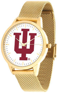 Indiana Hoosiers - Mesh Statement Watch - Gold Band