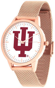 Indiana Hoosiers - Mesh Statement Watch - Rose Band - SuntimeDirect