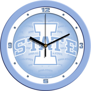 Iowa State Cyclones - Baby Blue Wall Clock - SuntimeDirect