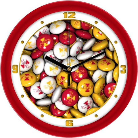 Iowa State Cyclones - Candy Wall Clock - SuntimeDirect