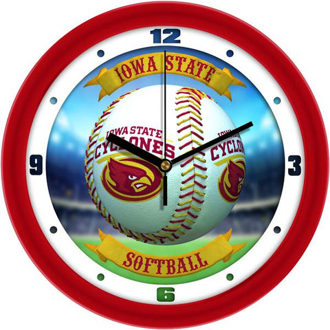 Iowa State Cyclones - Home Run Wall Clock - SuntimeDirect