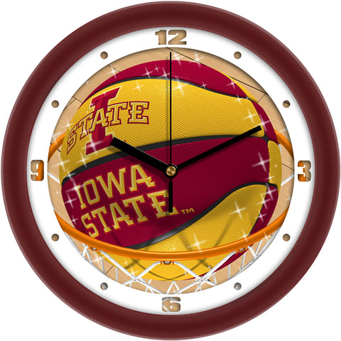 Iowa State Cyclones - Slam Dunk Wall Clock - SuntimeDirect