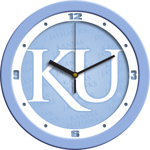 Kansas Jayhawk - Baby Blue Wall Clock