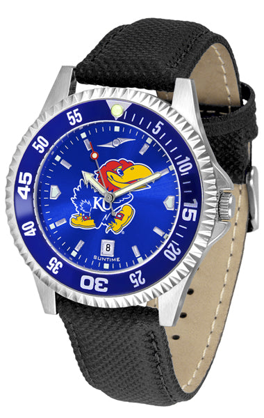 Kansas Jayhawk - Competitor AnoChrome  -  Color Bezel - SuntimeDirect