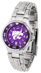 Kansas State Wildcats - Competitor Ladies' Steel AnoChrome  -  Color Bezel - SuntimeDirect