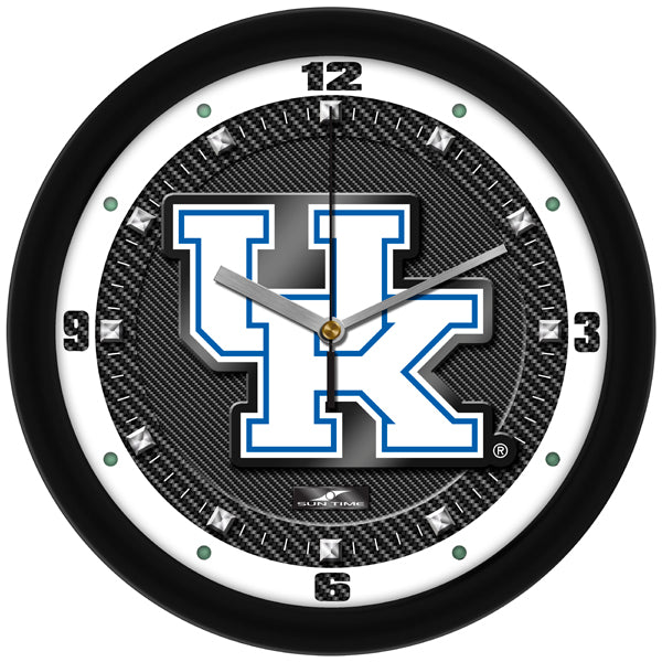 Kentucky Wildcats - Carbon Fiber Textured Wall Clock - SuntimeDirect