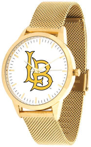 Long Beach State 49ers - Mesh Statement Watch - Gold Band