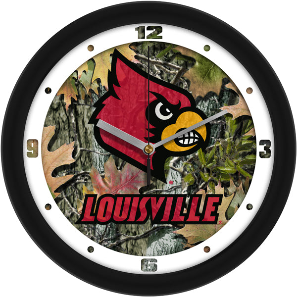 Louisville Cardinals - Camo Wall Clock - SuntimeDirect