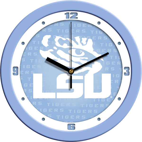 LSU Tigers - Baby Blue Wall Clock - SuntimeDirect
