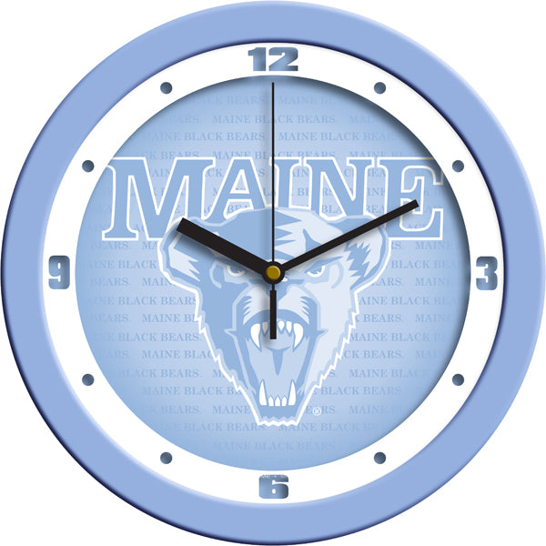 Maine Black Bears - Baby Blue Wall Clock