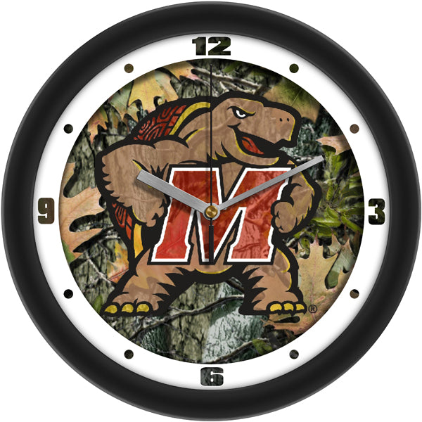 Maryland Terrapins - Camo Wall Clock