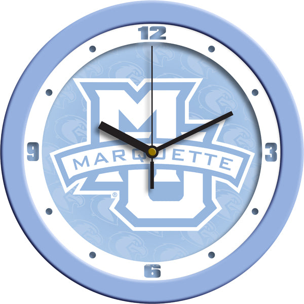 Marquette Golden Eagles - Baby Blue Wall Clock