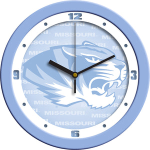 Missouri Tigers - Baby Blue Wall Clock - SuntimeDirect