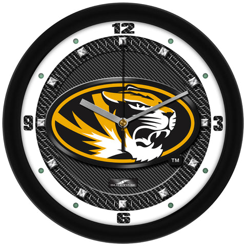 Missouri Tigers - Carbon Fiber Textured Wall Clock