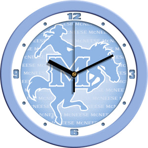 McNeese State Cowboys - Baby Blue Wall Clock