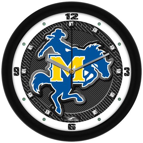 McNeese State Cowboys - Carbon Fiber Textured Wall Clock