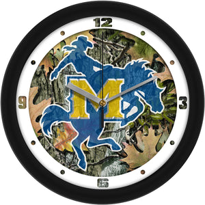McNeese State Cowboys - Camo Wall Clock